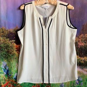 Calvin Klein career sleeveless tunic top